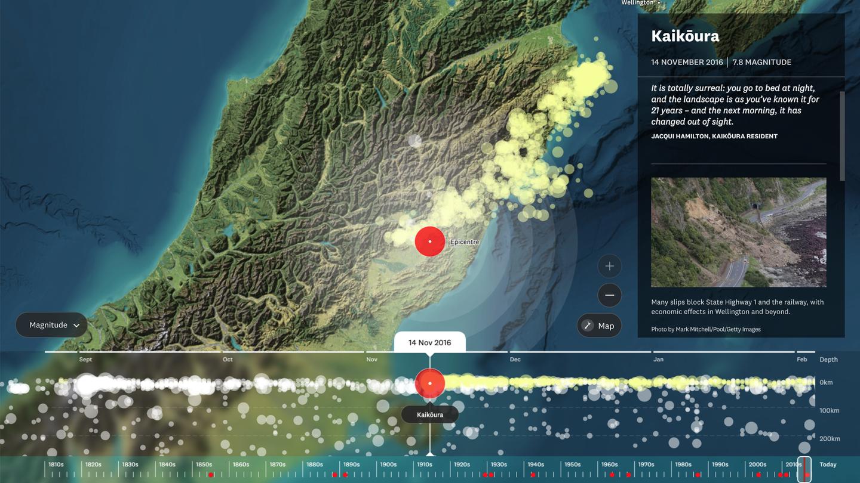 Kaikoura Earthquake details