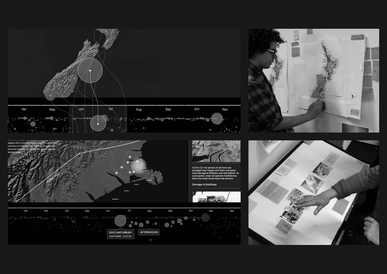 Te Papa Quake Nation - Process imagery