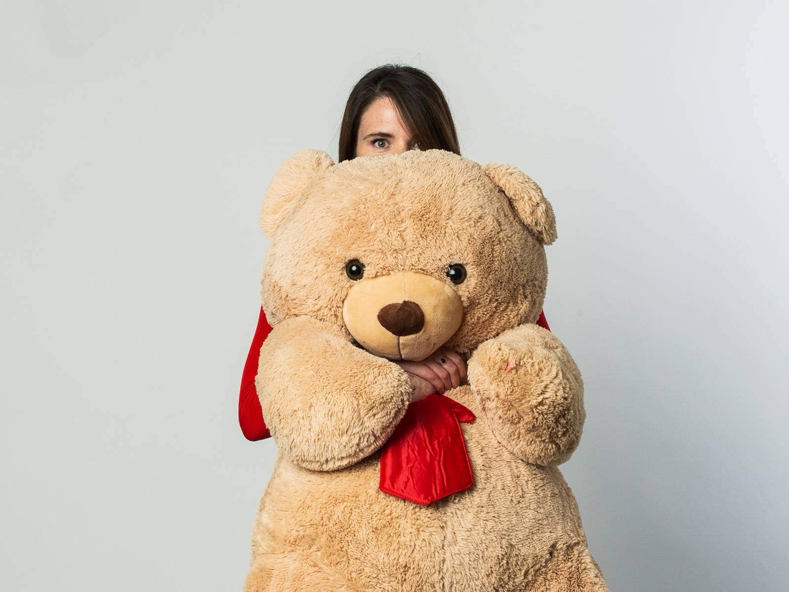 Lauren with a huge teddy