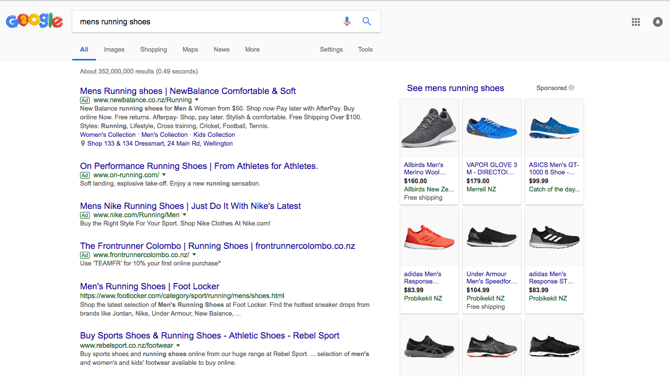 Mens running shoes search results