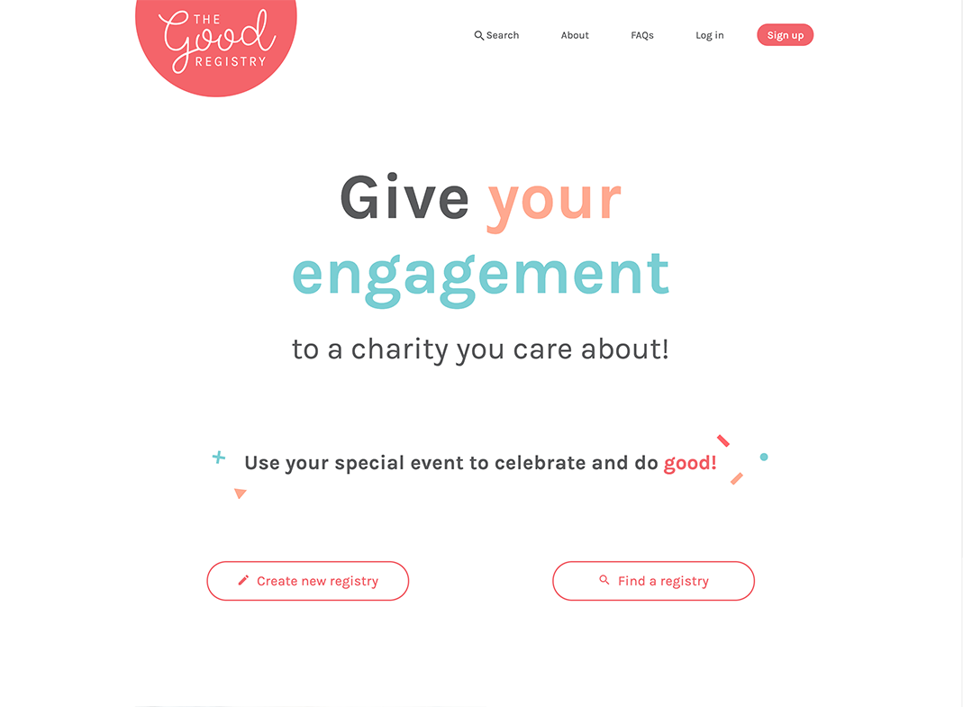 The Good Registry home page