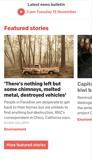 RNZ responsive screen example 1