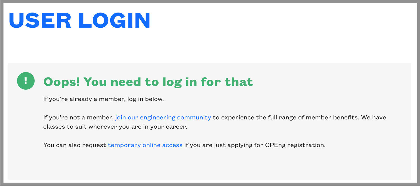 Engineering NZ login (border)